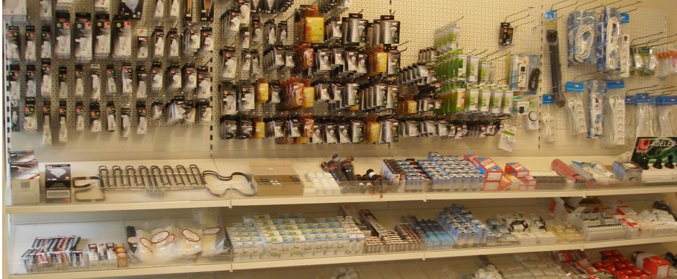 Βιτρίνα με λάμπες led από το μαγαζί